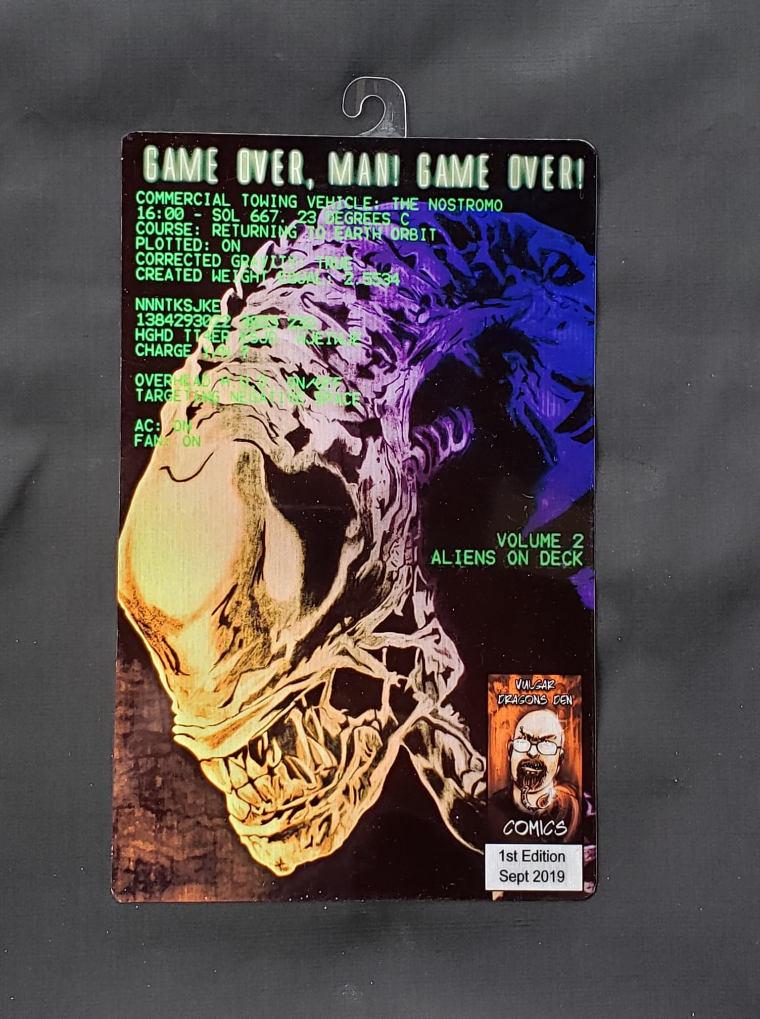 Alien Comic Metal Art Print