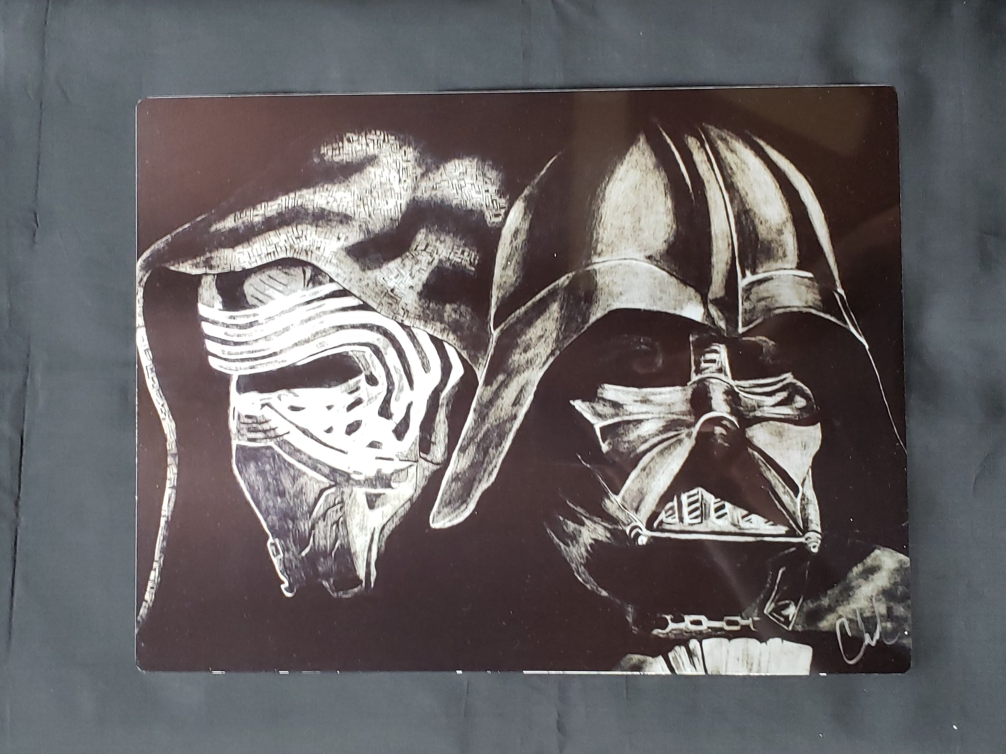 Darth Vader & Kylo Ren Star Wars Metal Art Print