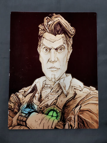 Borderlands 2 Handsome Jack Metal Art Print