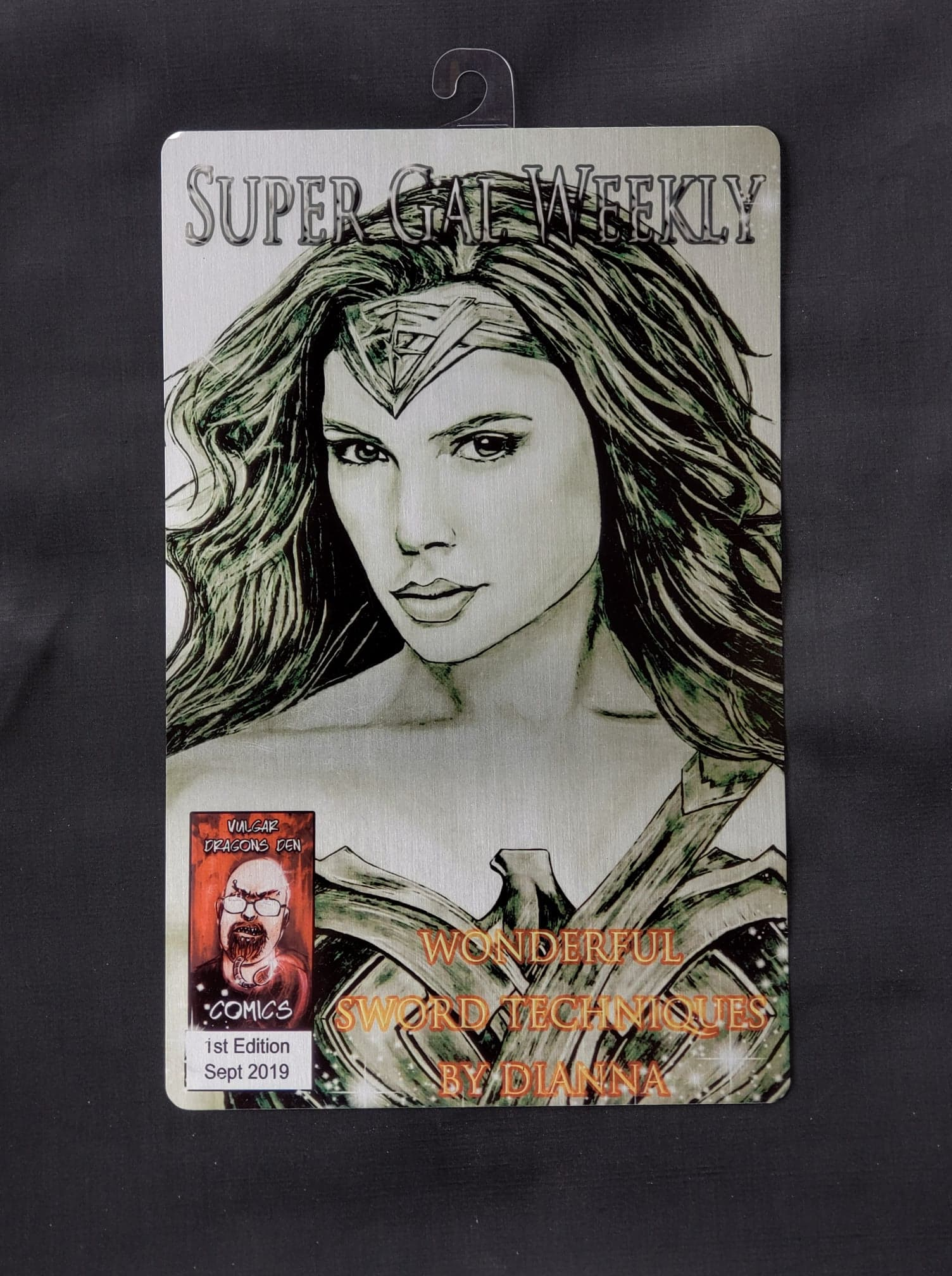 Wonder Woman Gal Gadot Comic Metal Art Print