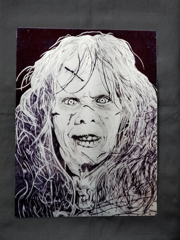 Regan Exorcist Metal Art Print