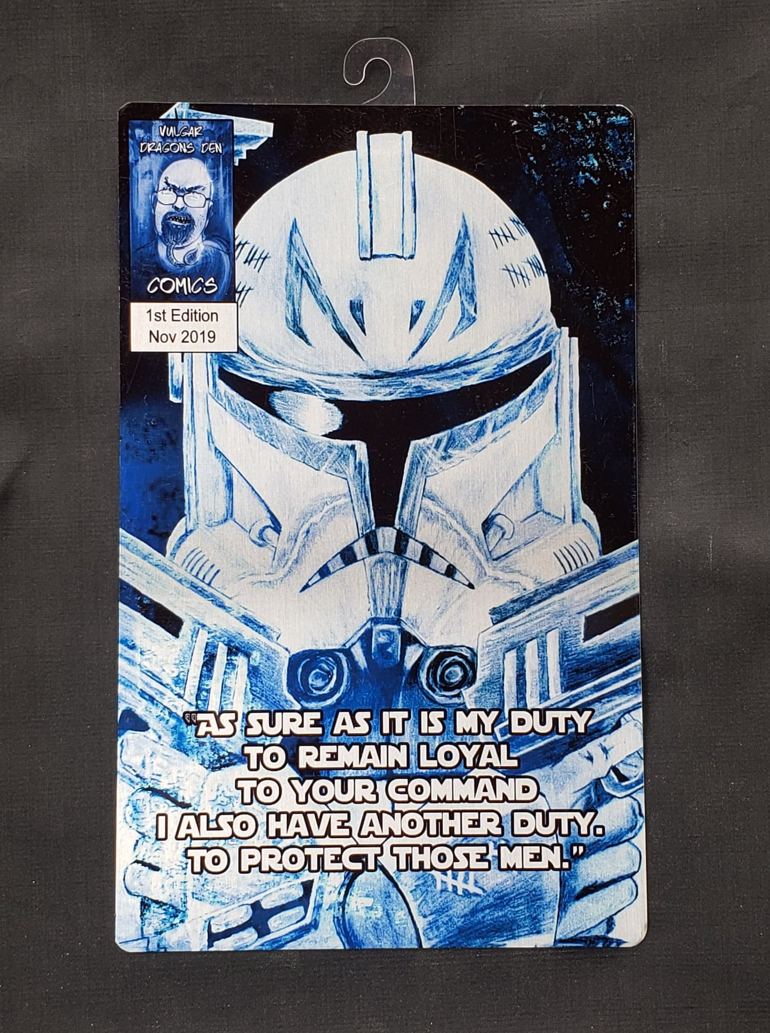 Rex Star Wars Comic Metal Art Print