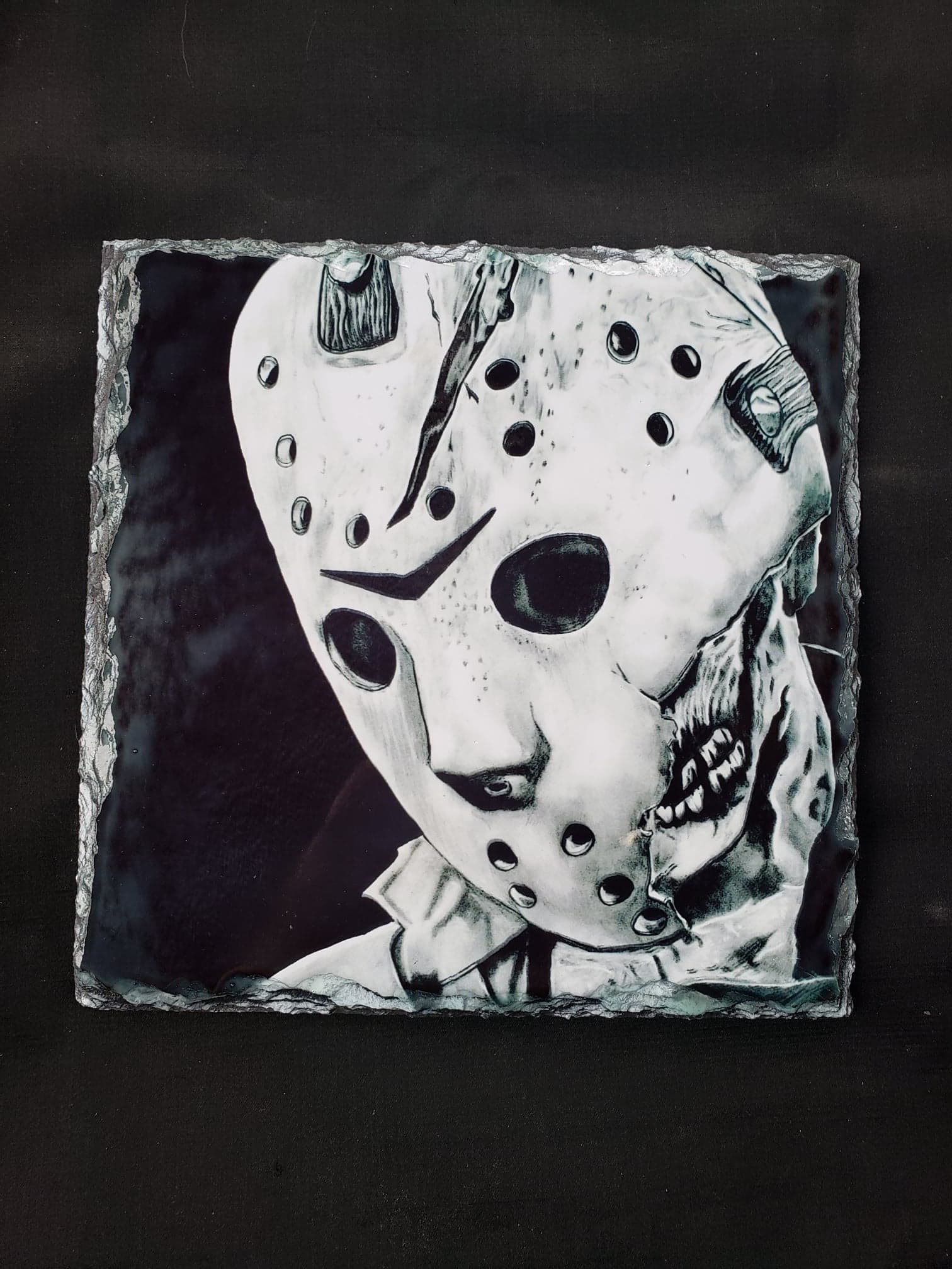 Jason Voorhees Friday the 13th Print on Stone Tile