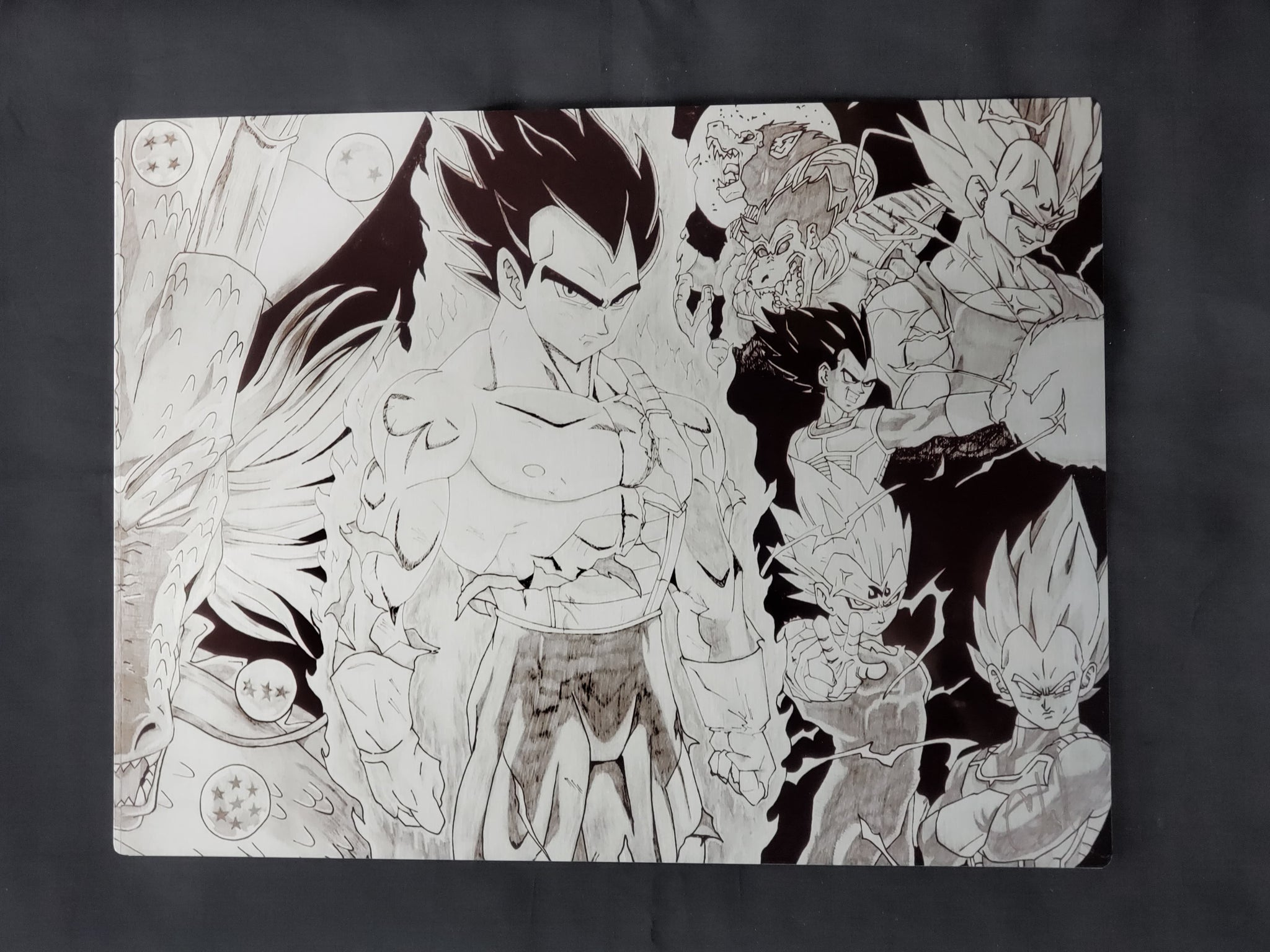 Dragonball's Vegeta collage Metal Art Print