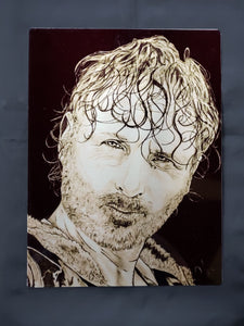 Rick Grimes Walking Dead Metal Art Print