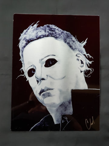 Michael Myers Halloween Metal Art Print