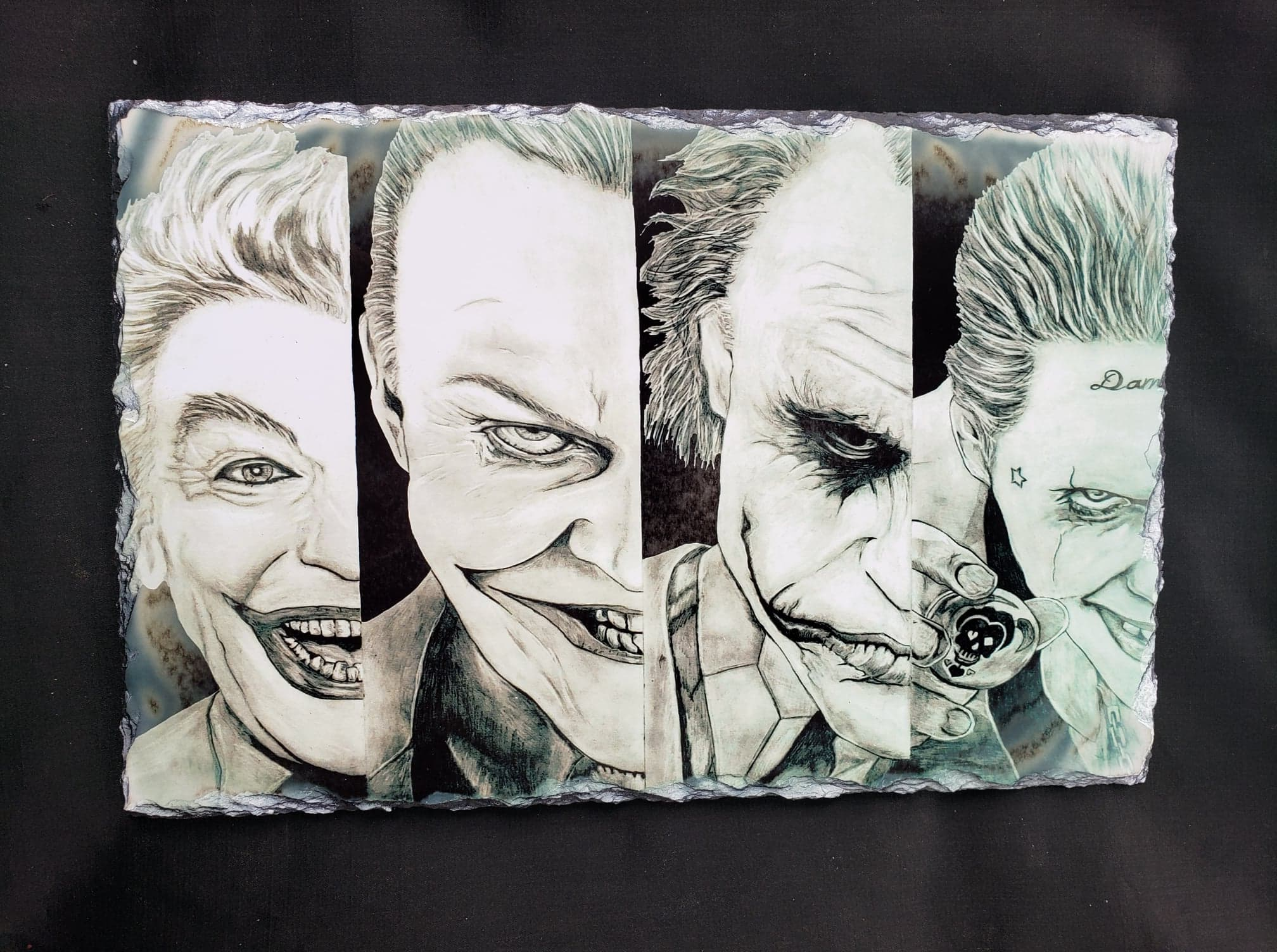 Joker through the years Print on Large Stone Tile