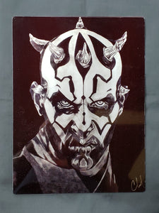 Darth Maul Metal Art Print