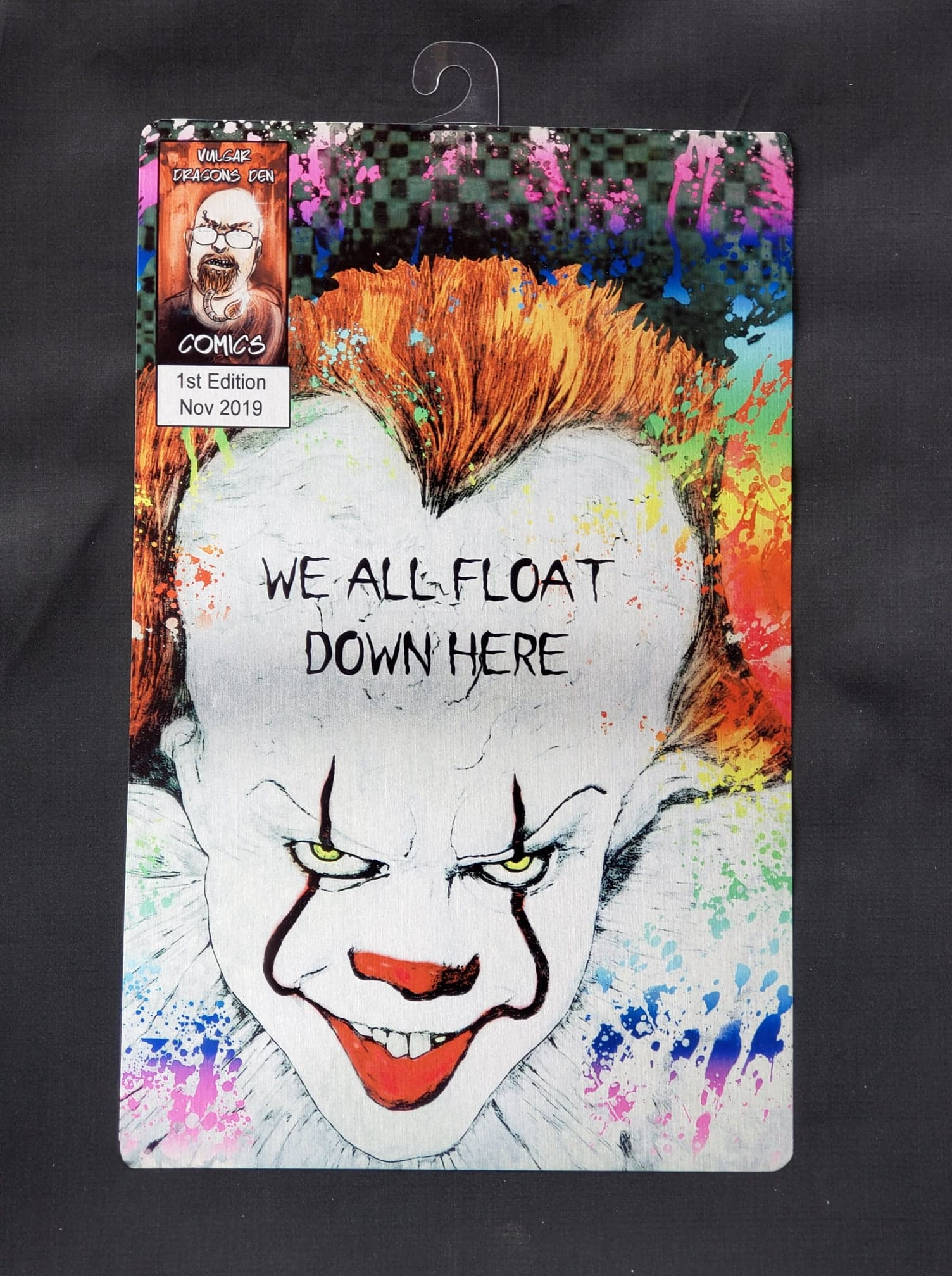 Pennywise Bill Skarsgard Comic Metal Art Print