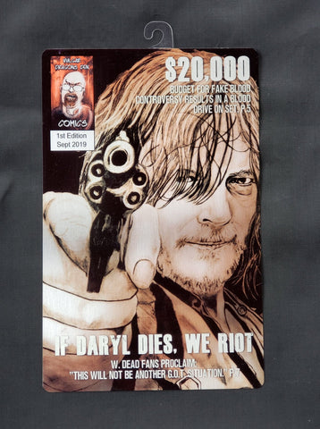 Daryl Dixon Walking Dead Comic Metal Art Print