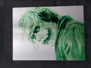 Joker Heath Ledger Metal Art Print