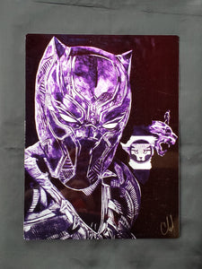 Black Panther Metal Art Print