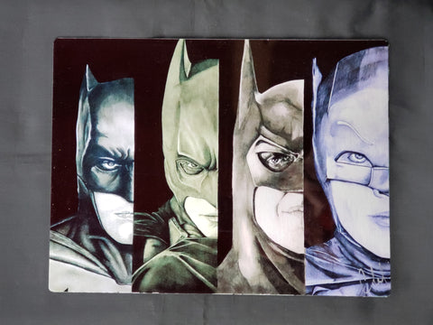 Batman through the years Metal Art Print
