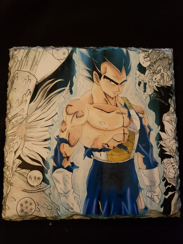 Vegeta from Dragonball on Stone Tile