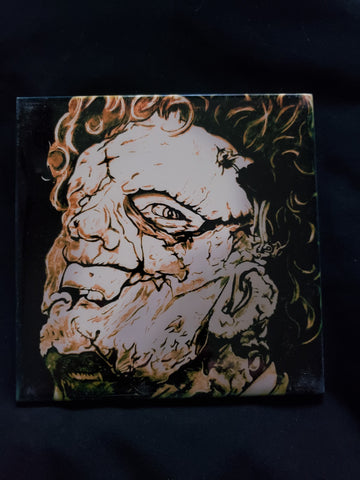 Leatherface Texas Chainsaw Massacre Print on Ceramic Tile