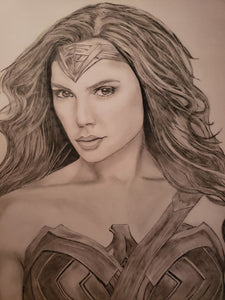Wonder Woman Gal Gadot 13x16 Print