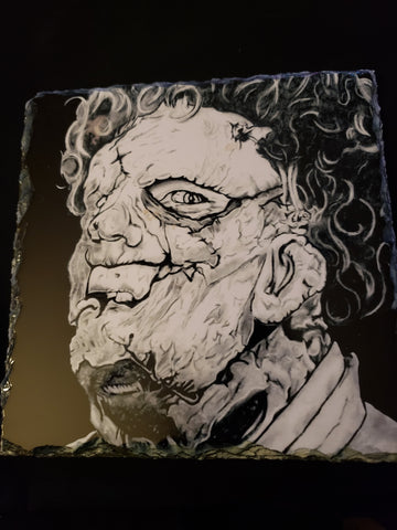 Leatherface Texas Chainsaw Massacre Print on Stone Tile