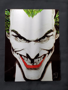Joker Limited Edition hand colored Metal Art Print