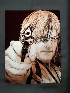 Daryl Dixon Walking Dead Metal Art Print