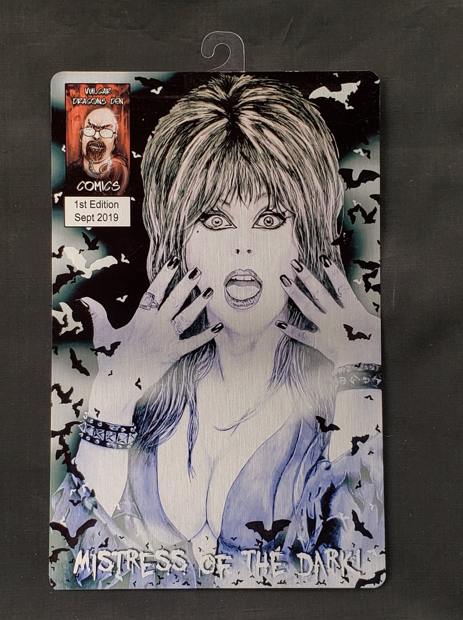 Elvira Comic Metal Art Print