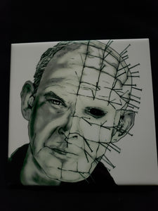 Pinhead Hellraiser Print on Ceramic Tile