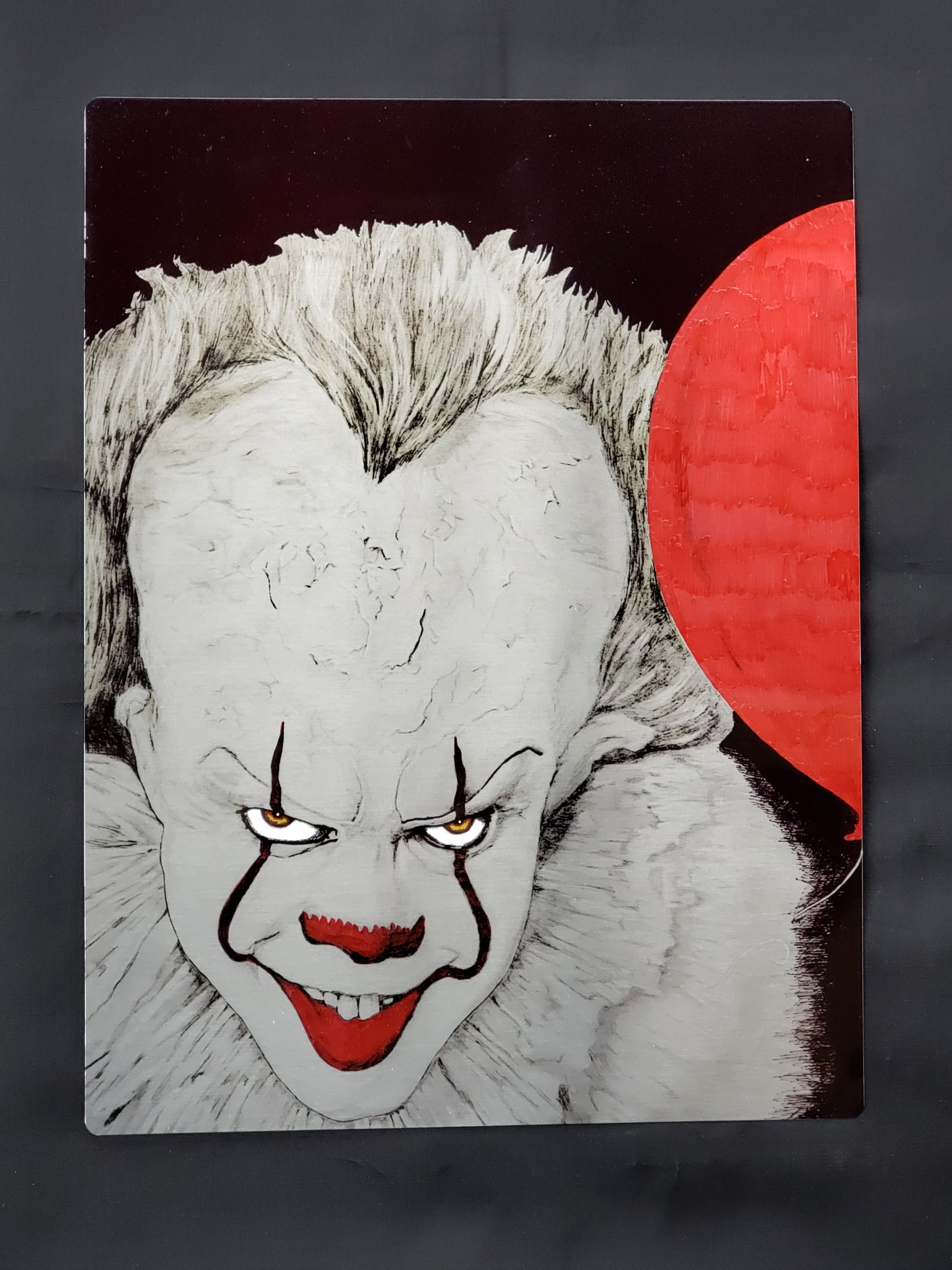 "Pennywise Bill Skarsgard ""It"" Color Metal Art Print"