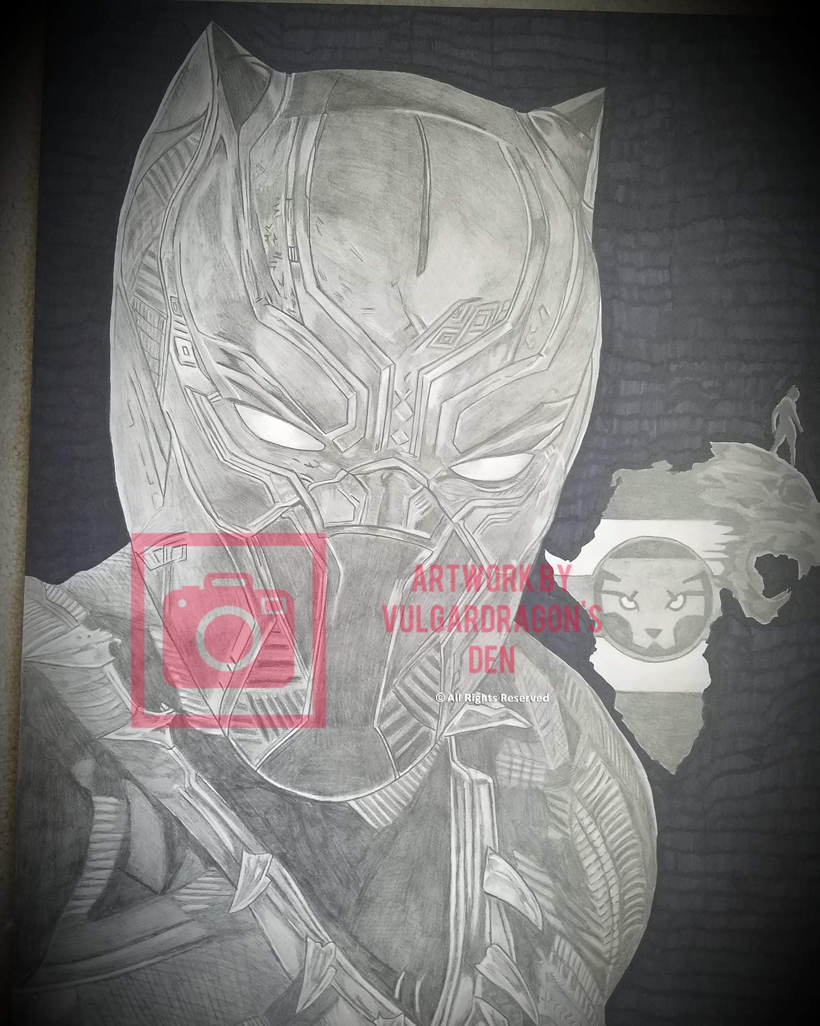 Black Panther Original Drawing