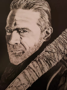 Negan Walking Dead 13x16 Print