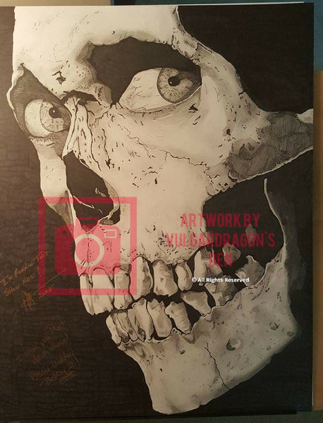 Autographed Evil Dead 2 Original Drawing