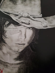 Carl Walking Dead 13x16 Print