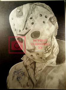 Autographed C.J. Graham Jason Voorhees Original Drawing