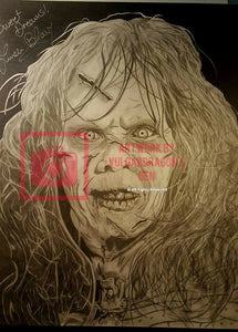 Autographed Exorcist Linda Blair Original Drawing