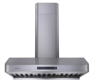 "B53A Sakura 30"" Range Hood with Chimney Flue - Stainless Steel - Made in Taiwan"