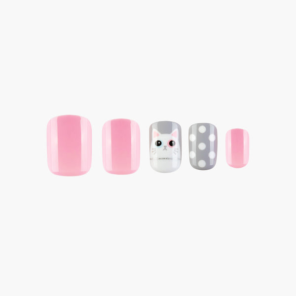 Kitty Winky Instant Réutilisable Presse Sur Nails-1