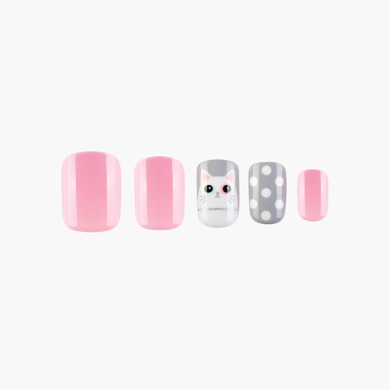 Kitty Winky Instant Reusable Press On Nails-1