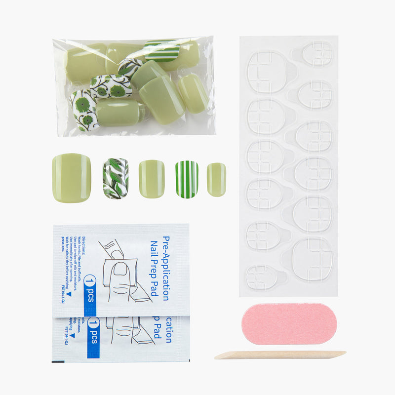 Spring Fling Instant Reusable Press On Nails-2