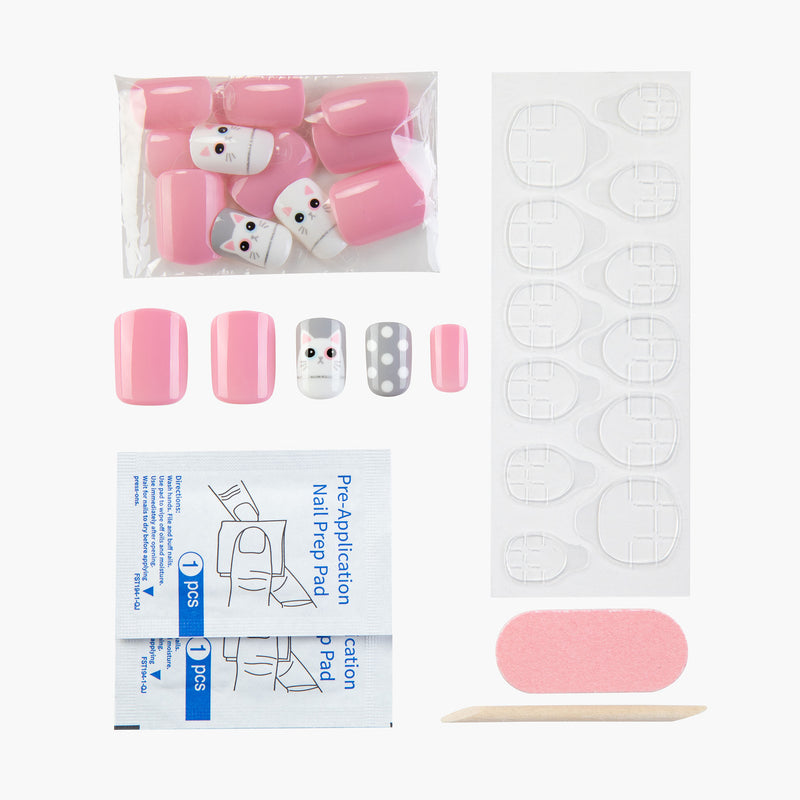 Kitty Winky Instant Reusable Press On Nails-2