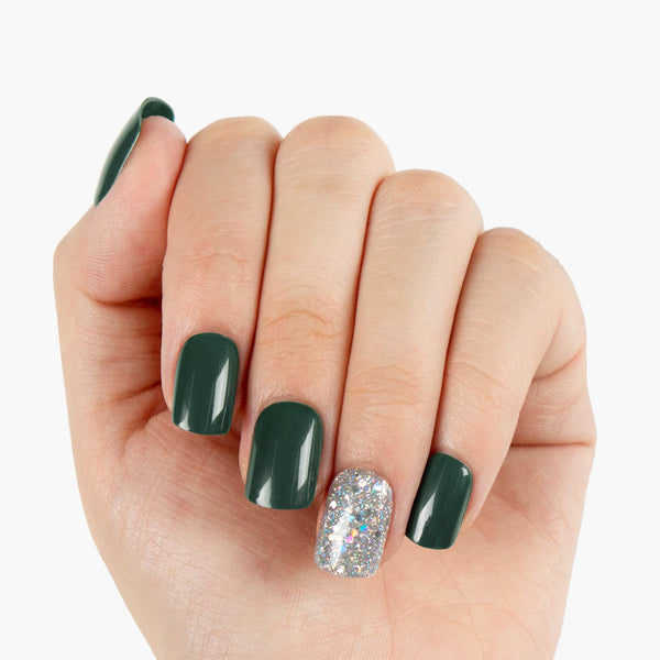 EmeraldDreamReusableInstantPressOnNails
