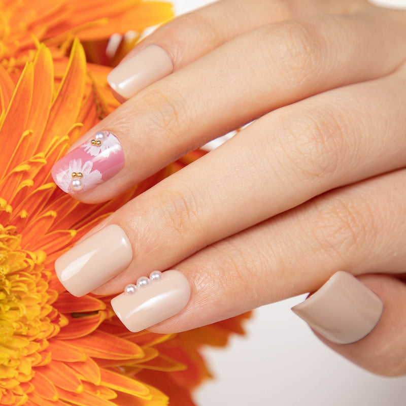 alldashing Blossoms And Pearls press on nails