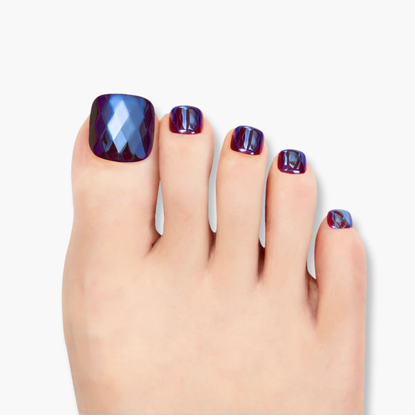 alldashing Divine Diamond press on nails pedicure