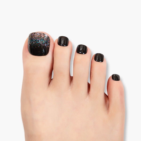 alldashing Lost In Space press on nails pedicure