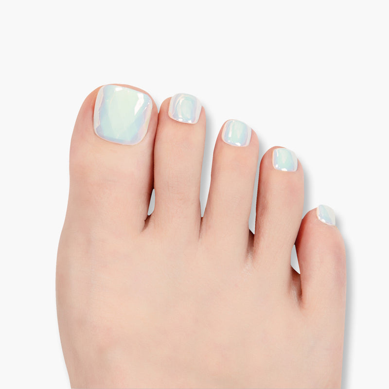 alldashing Naturally Elegant press on nails pedicure