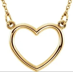 "14K Yellow Heart 16"" Necklace"