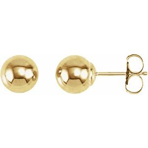 Ball Earings With Bright Finish