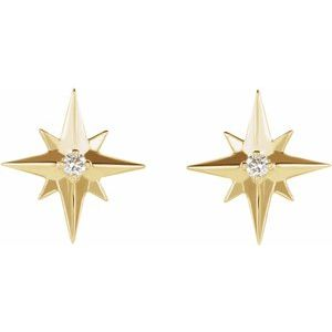 Accented Star Earrings