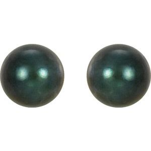 Black Akoya Cultured Pearl Earrings