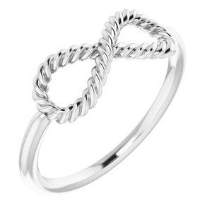 Infinity-Inspired Rope Ring