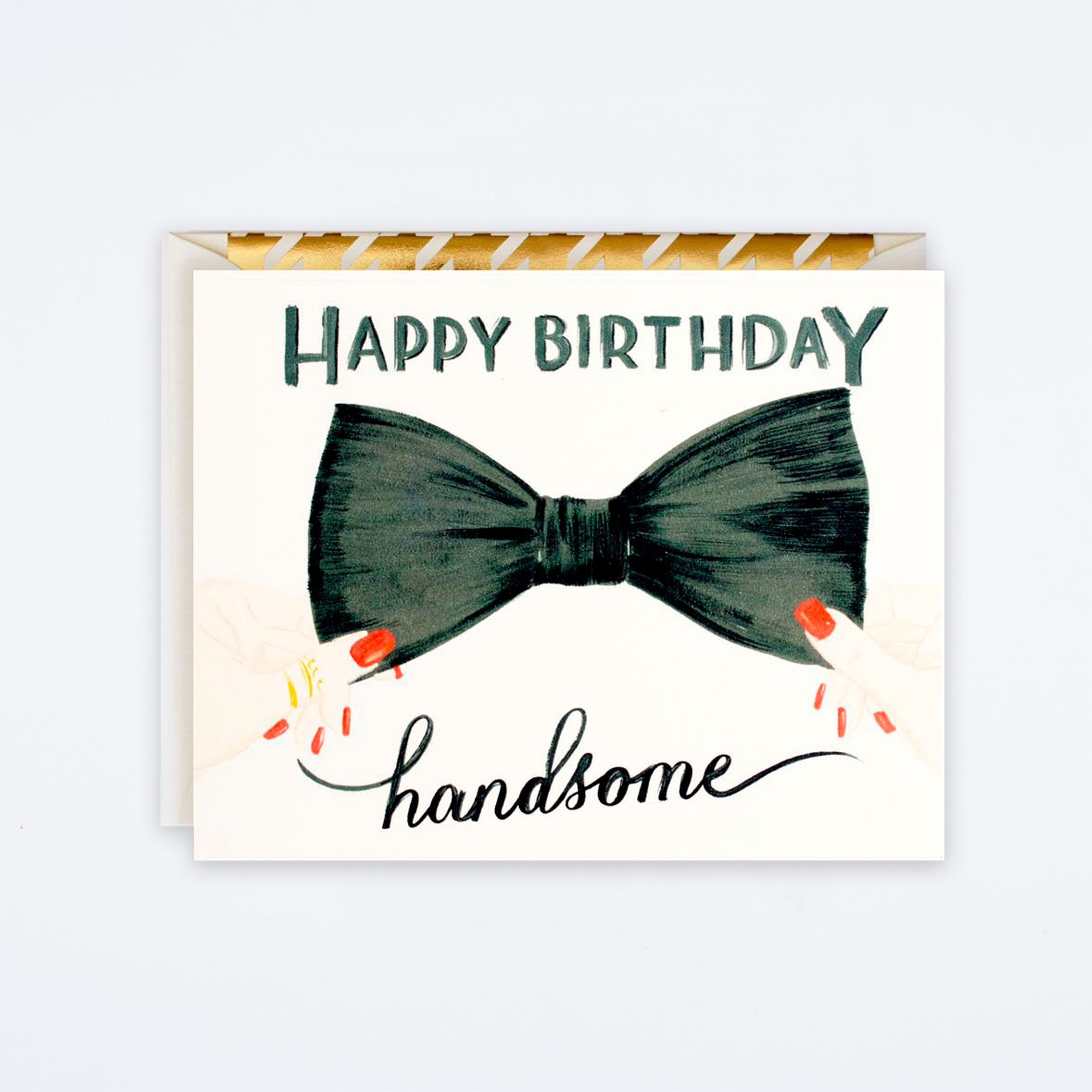 Happy Birthday Handsome Bow Tie Card