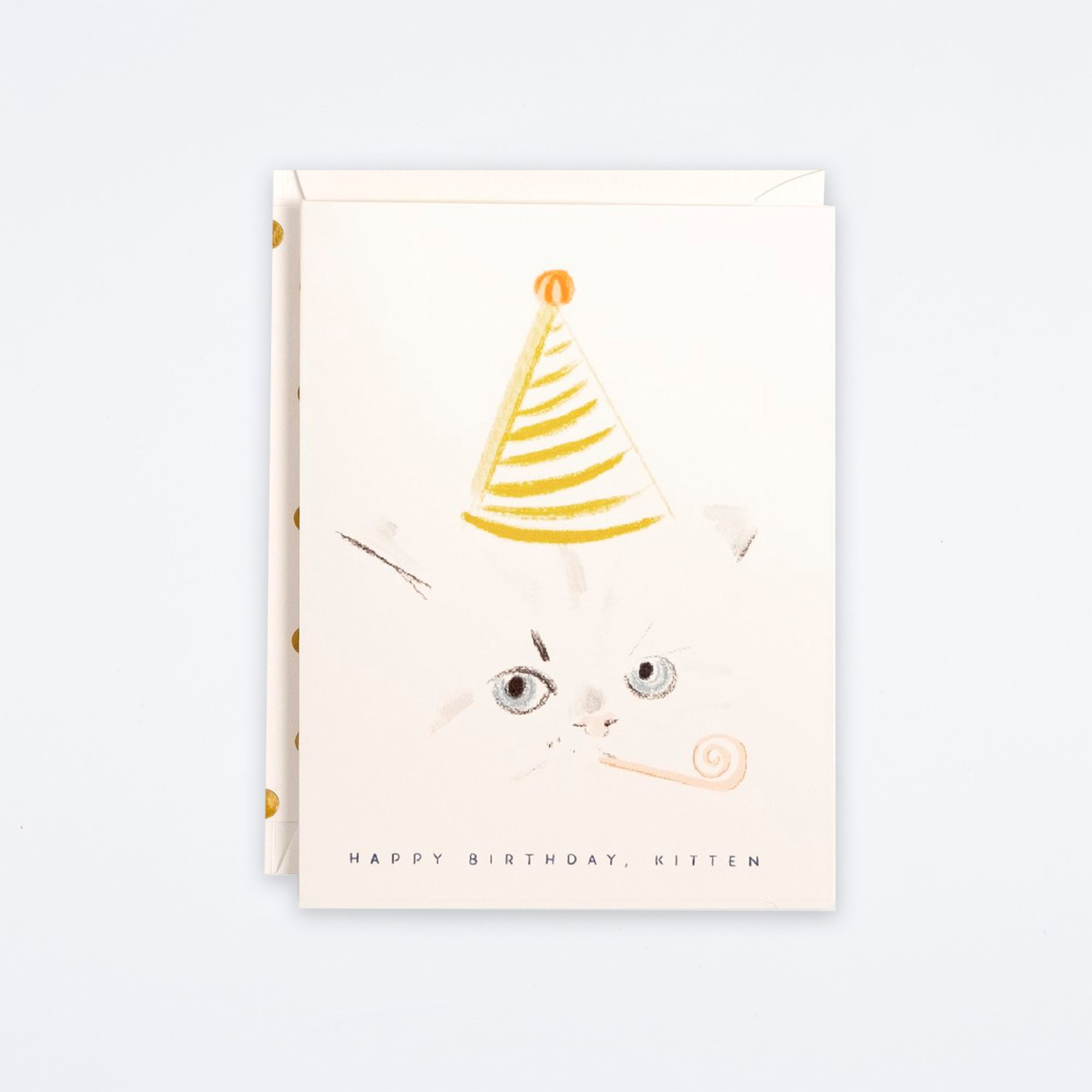 Kitten Party Hat Card