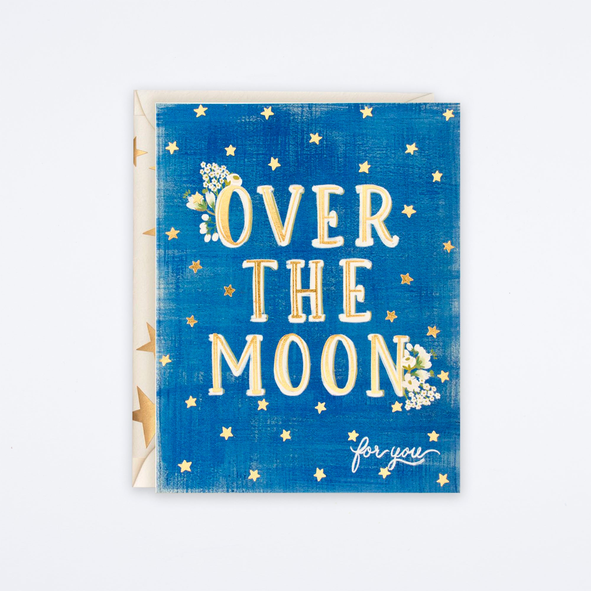 Over The Moon For You Card
